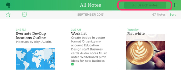 evernote search