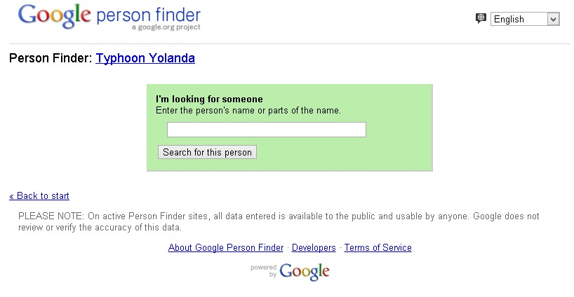google person finder app for yolanda