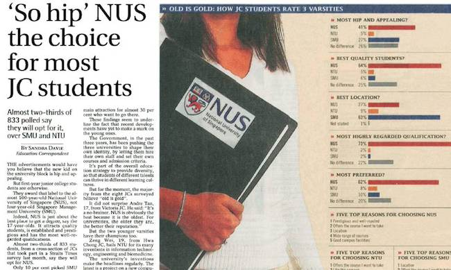 While This Might Be Unrelated There Were Several Cases Of Suicides Over The Past Few Years In Nus Last Year A Year One Student From The National