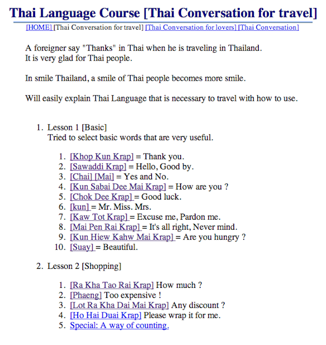 Thai Phrases and Common Sentences - Learn Foreign Languages