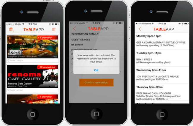 Malaysias Online Restaurant Booking Site Table App Has Served Over - Table reservation app