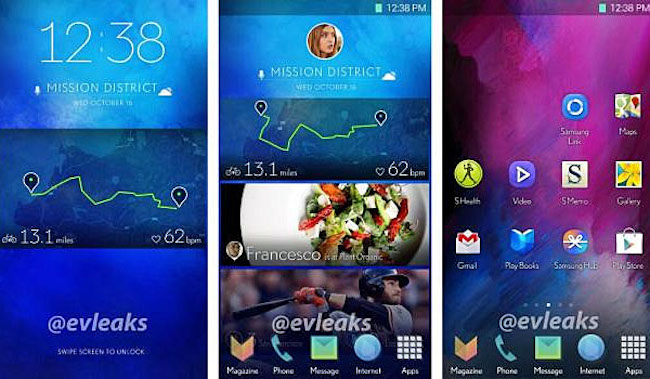 Leaked photos of Samsung Galaxy S5 (Credit: evleaks)