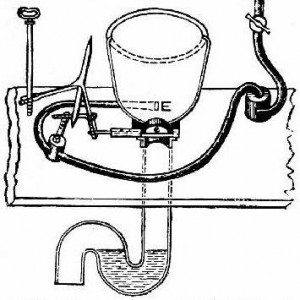 Alexander Cumming's S-valve, patented in 1775.