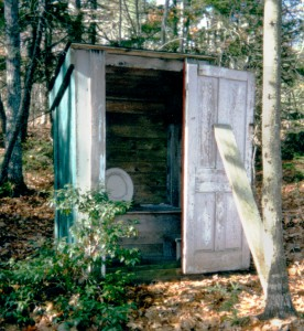 At least there is an outhouse in this wilderness!
