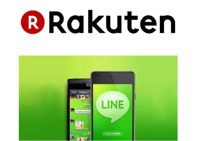 Online shopping site Rakuten works with LINE, launches