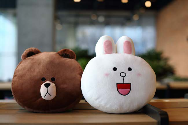 Brown and Cony Head Plush Doll