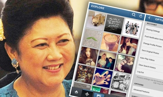 The First Lady of Indonesia is active in Instagram. (Photo source: Bisnis Jabar)