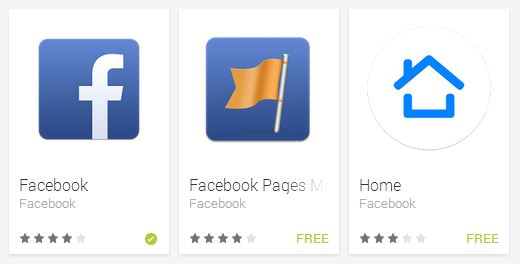 facebook apps on google play android