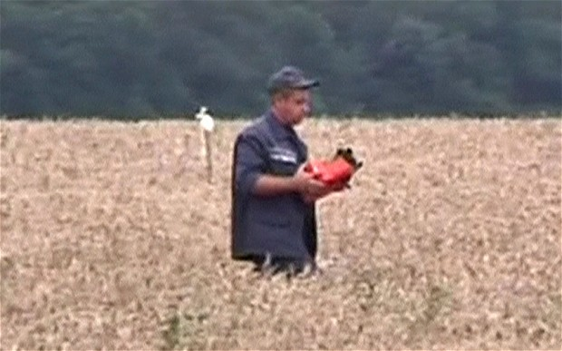 Ukraine separatist found one of MH17's black boxes. Image credit: The Telegraph