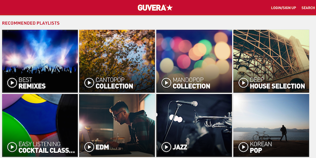 Guvera music streaming site