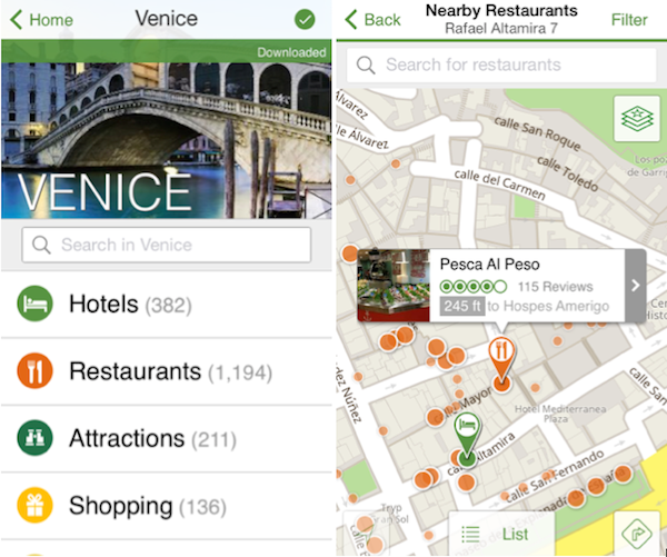 TripAdvisor App Takes The Fight To Google Maps, Announces ... on map wedding, map travel, map project,