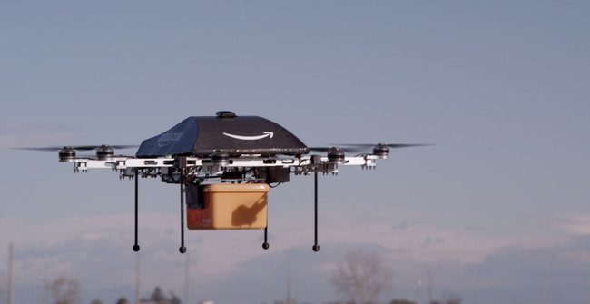 Amazon Drones in Action (Image Credit: Amazon.com)
