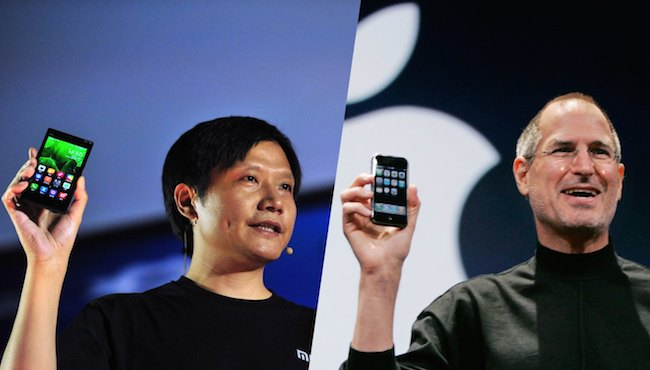Lei Jun and Steve Jobs. Image Credit: TechCrunch