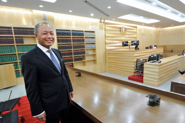 Chief Justice Tun Arifin Zakaria at the Specilise Construction Court_ Imagecredit_ BERNAMA