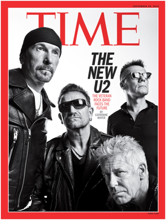 U2 on the cover of TIME's September 29, International edition