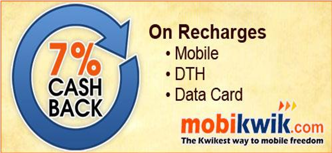 Mobikwik Payment Through Cashback(Image from: upto75.com)
