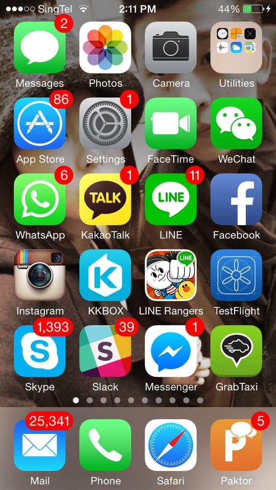 Screenshot of Joseph's homescreen (Image Credit: Joseph Phua)