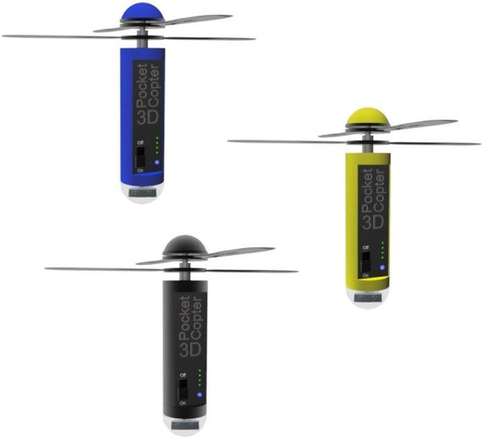 3D Pocketcopter comes in 3 colors