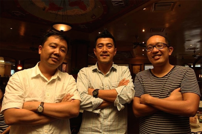 The directors of the video, (from left) Naga DDB executive creative director Alvin Teoh, Reservoir World executive producer Chow Chun Son and Naga DDB creative director Chan Woei Hern pose for a photo at Dome KLCC in Kuala Lumpur. Image Credit: The Malay Mail Online