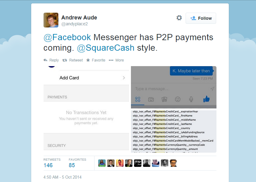 Screenshot from main page of Andrew Aude's Twitter account.