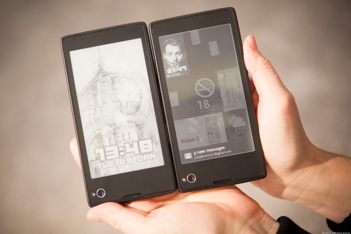 Yotaphone (Image: goodereader)