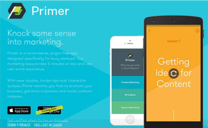Google Primer Official Site