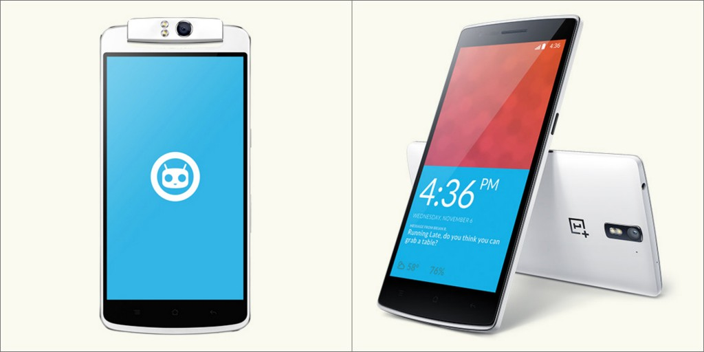 Oppo N1 and OnePlus One [Image Credit: cyngn.com]
