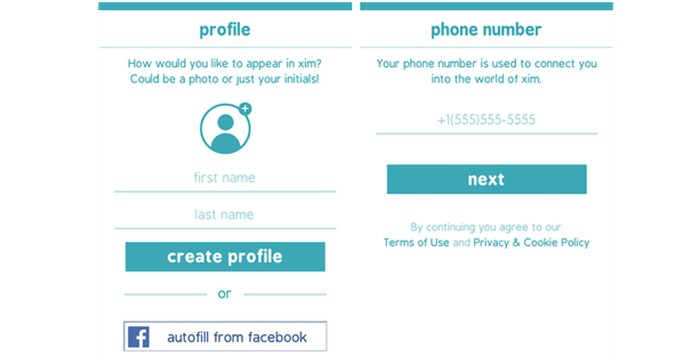 You'll be prompted to login and create a new profile if you're a Xim newbie