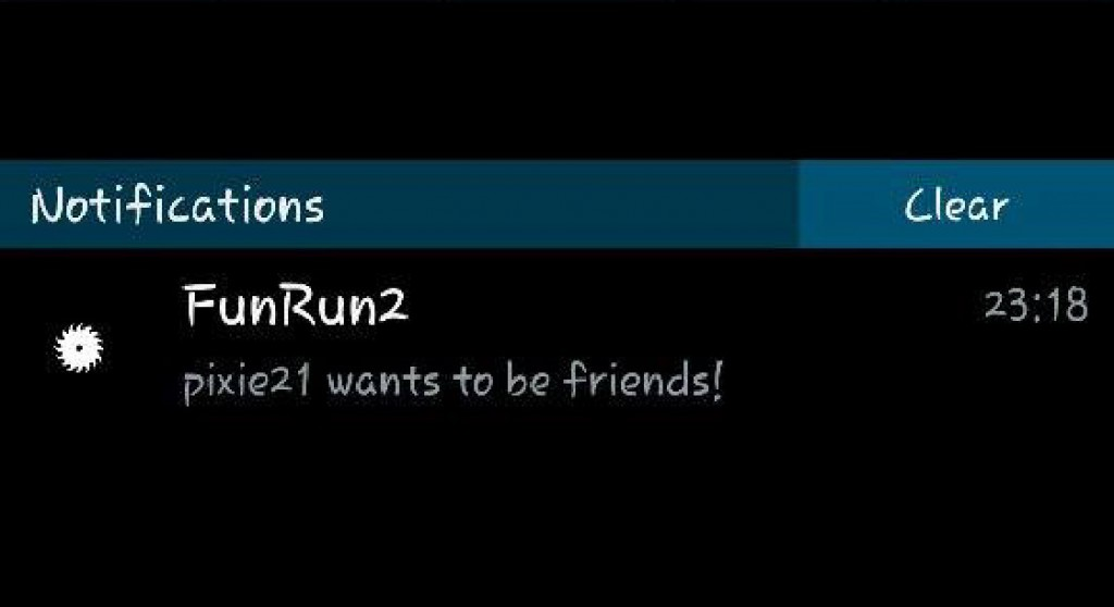 Fun Run 2: Push notification upon friend request