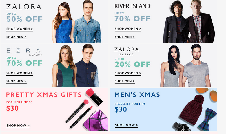 Current sales on Zalora