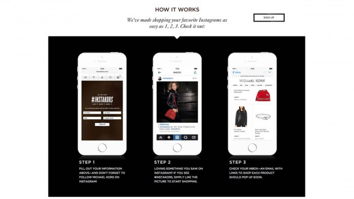 Michael Kors teaches you how to shop on Instagram
