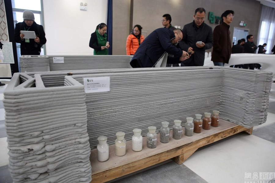 3D printed houses china