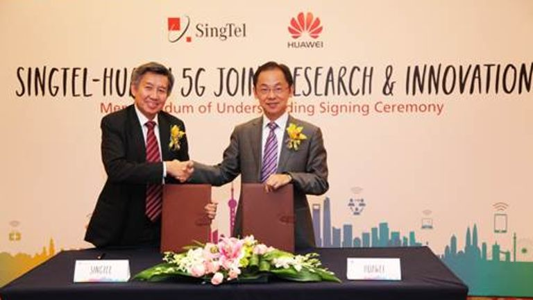 Singtel and Chinese telco Huawei also launched the 5G Joint Innovation Program last year. (Image Credit: channelnewsasia.com