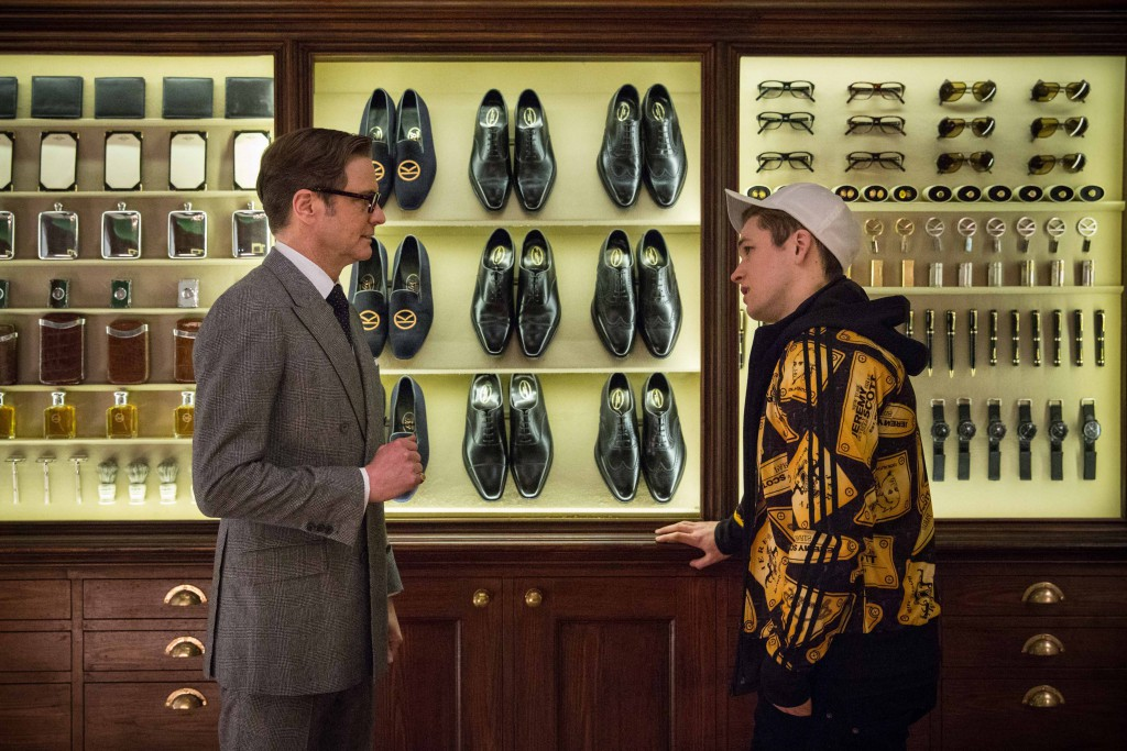 Inside the Kingsman headquarters.