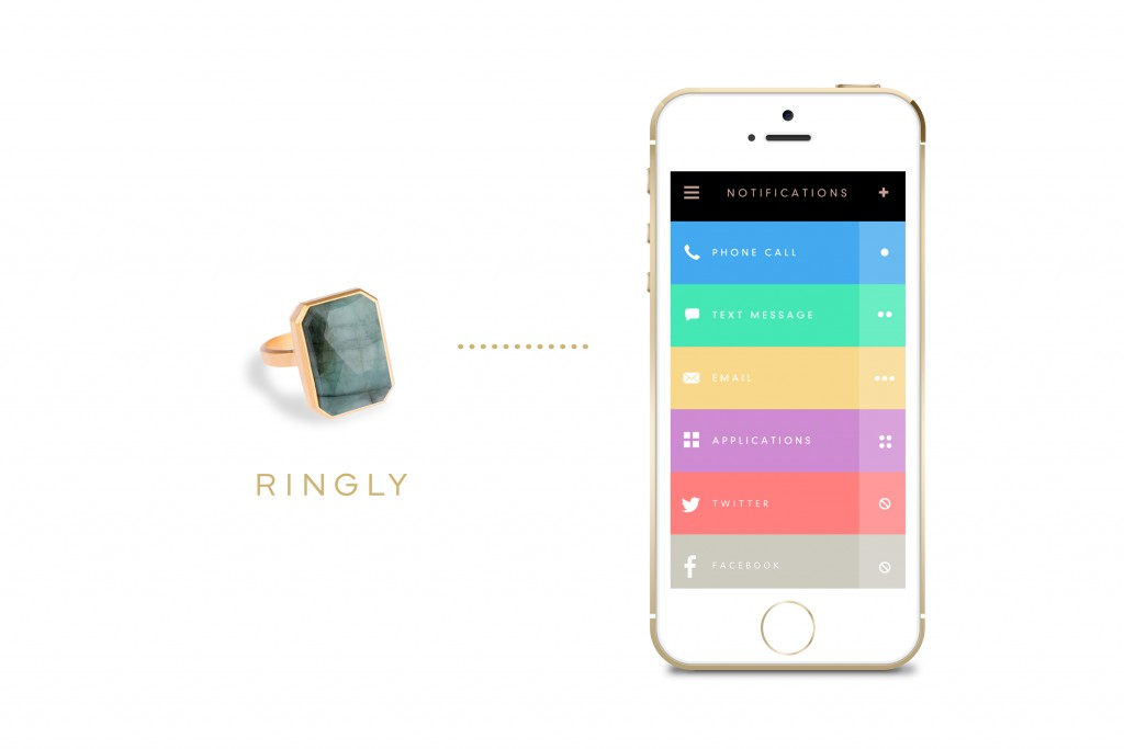 The Ringly syncs with your phone via an app that users must download (Image Credit: Ringly)