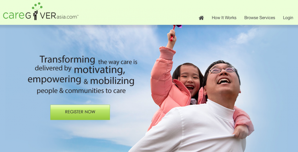 The Caregiver Asia homepage