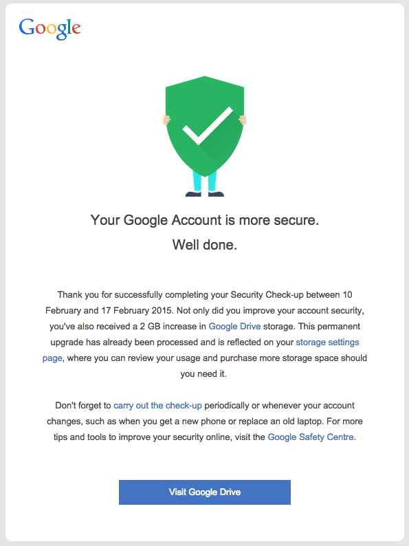 Google Drive 2GB - Thanks!