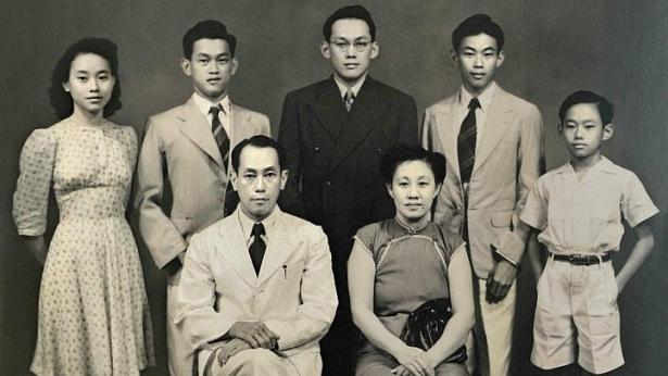 Lee Kuan Yew, in black, was the eldest in the family. (Image Credit: Straits Times)