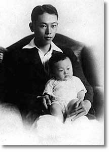 Lee Kuan Yew with his father, Lee Chin Koon