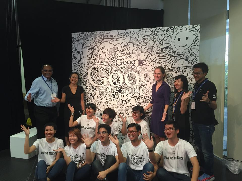 A large doodle drawn by a team of doodlers from Band of Doodlers.