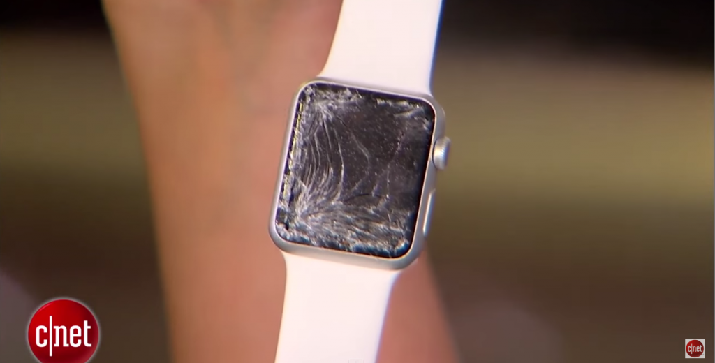 apple watch face cracked
