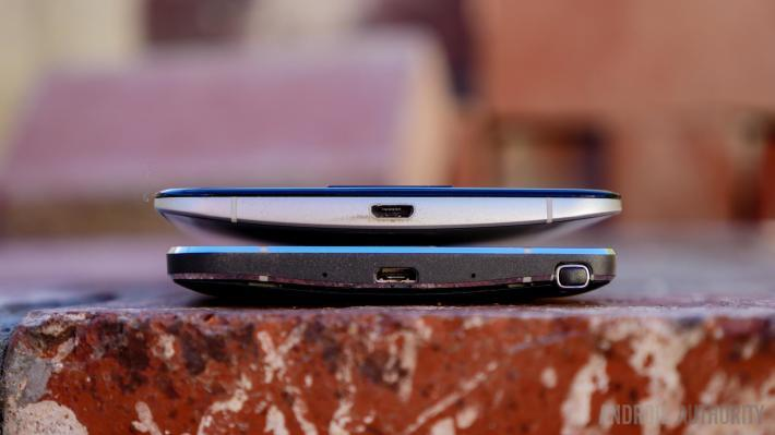 The slightly curved back of the Nexus 6. (Image Credit: androidauthority.com)