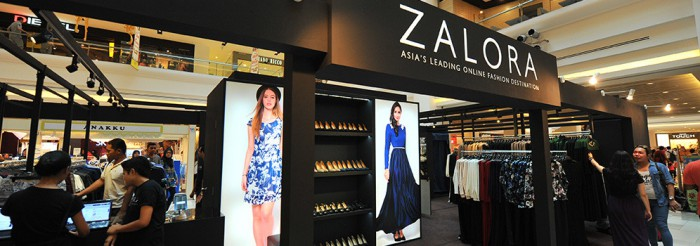 Zalora first pop-up store in Johor Bahru. (Image Credit: Zalora)