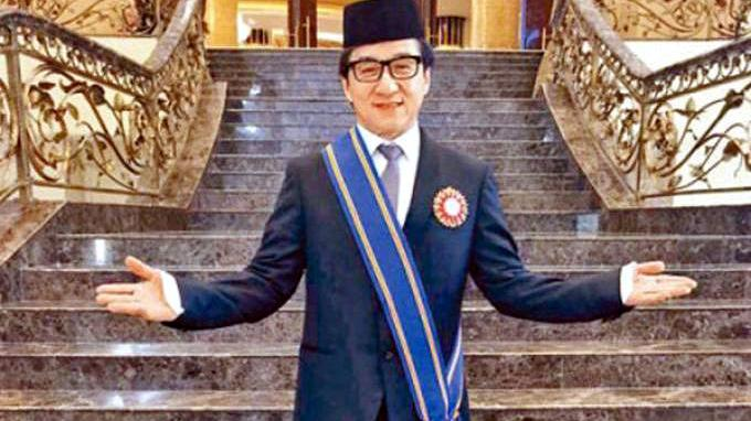 Hong Kong superstar Jackie Chan surprised many when he turned up to receive his Datukship from the King of Malaysia.