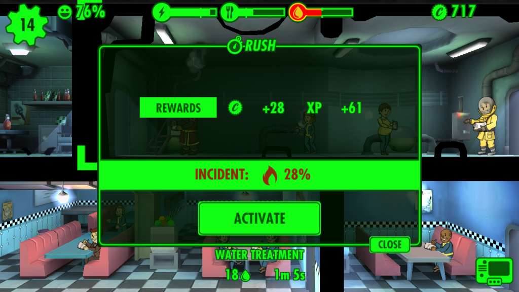 Fallout Shelter Food Production
