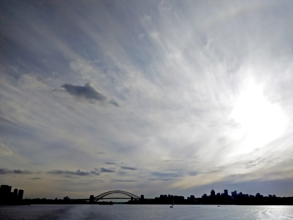 View of the harbour from the Manly ferry. Image Credit: Sim Yan Ting