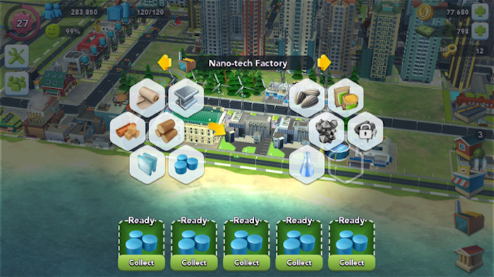SimCity BuiltIt factory slot