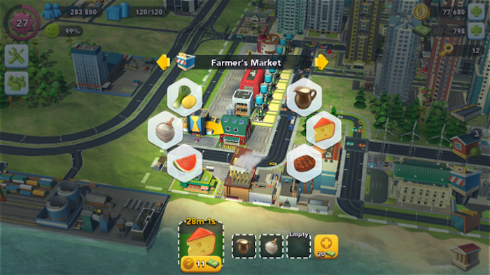 SimCity BuiltIt farmer market