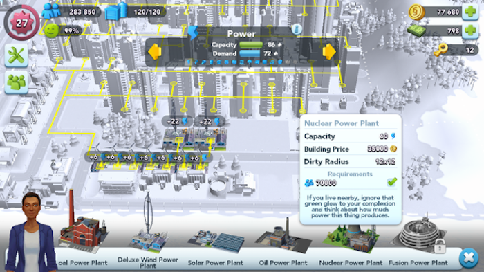 SimCity BuiltIt nuclear power