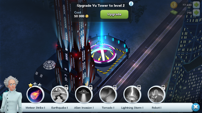 SimCity BuiltIt vu tower